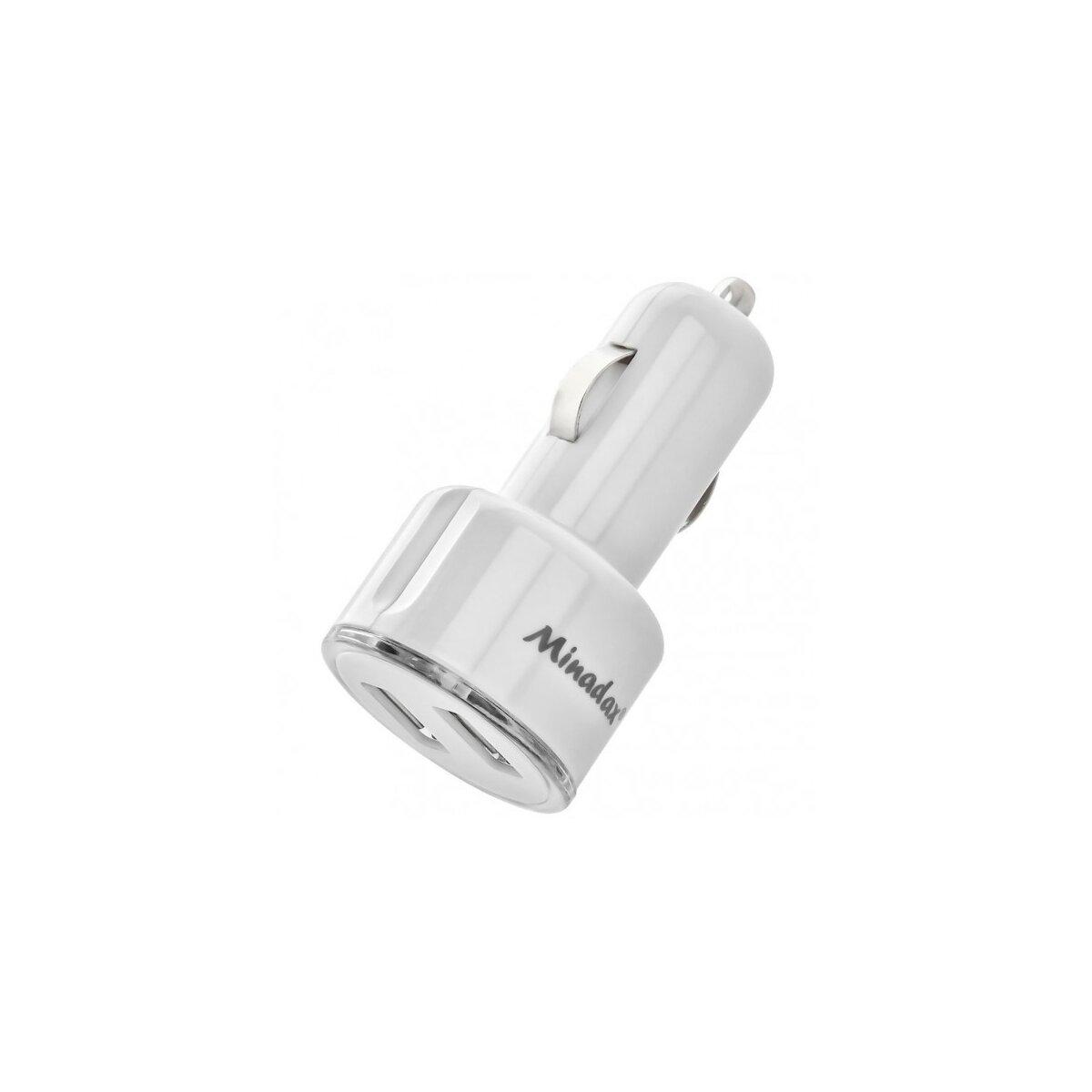 Minadax® Kfz USB Dual Adapter 2100mAh Power 2-Port Schnell Ladegeraet