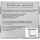 Minadax® 0,75kg Premium Qualitaet 1,75mm PET-G Filament transparent fuer 3D-Drucker hergestellt in Europa