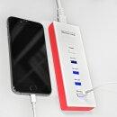 4 Fach USB Ladegerät / Leiste SP-880 Pink