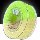 Minadax® 1kg Premium Qualitaet 3mm (2,85mm) ABS-Filament gruengelb floureszierend mit UV-Licht fuer 3D-Drucker hergestellt in Europa