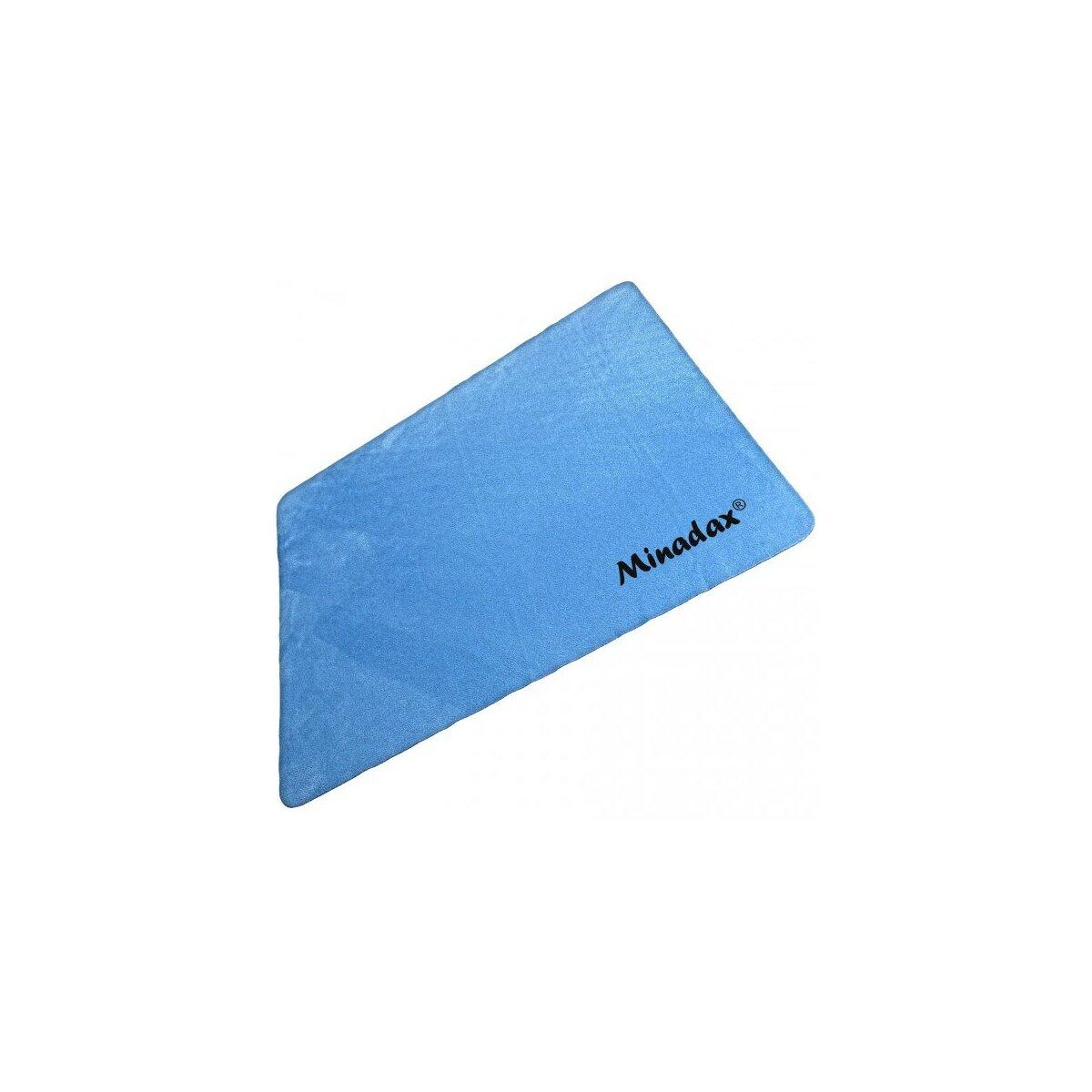 Minadax® 30 x 30 cm waschbares Mikrofaser Reinigungstuch fuer empfindliche Oberflaechen wie Objektive, Filter, Brillen oder Bildschirme