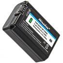 Minadax Qualitätsakku mit echten 900 mAh kompatibel für Sony A55, A33, A35, A37, NEX-6, NEX-7 Serie, NEX-3 Serie, NEX-5 Serie etc – Ersatz für NP-FW50 - Intelligentes Akkusystem mit Chip