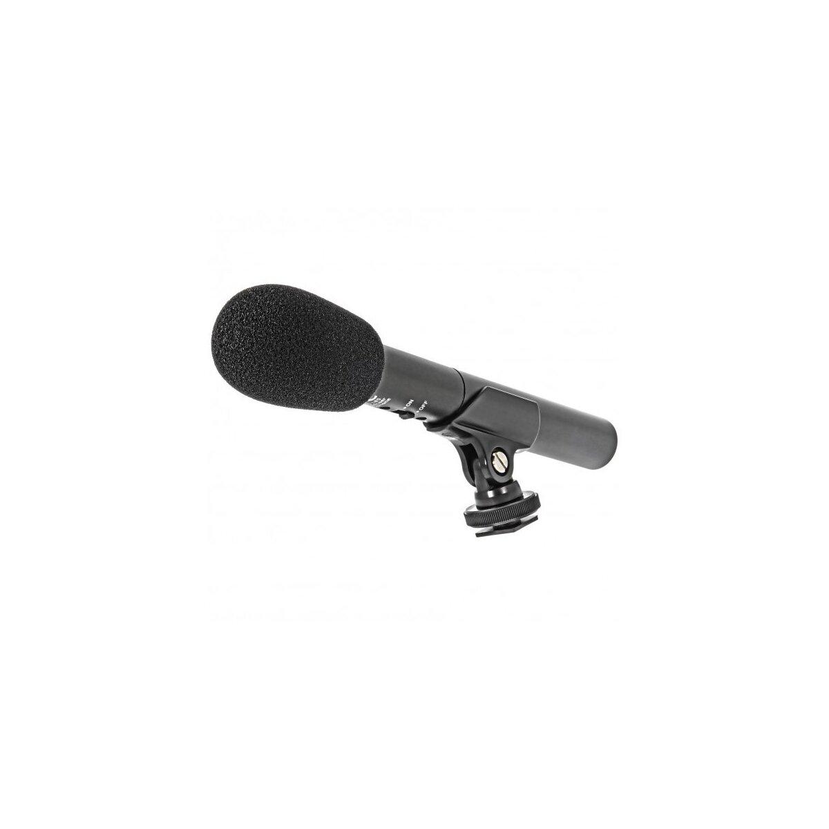 JJC SGM-185 Richtmikrofon fuer DSLR- und Videokameras 3,5mm Klinke Anschluss