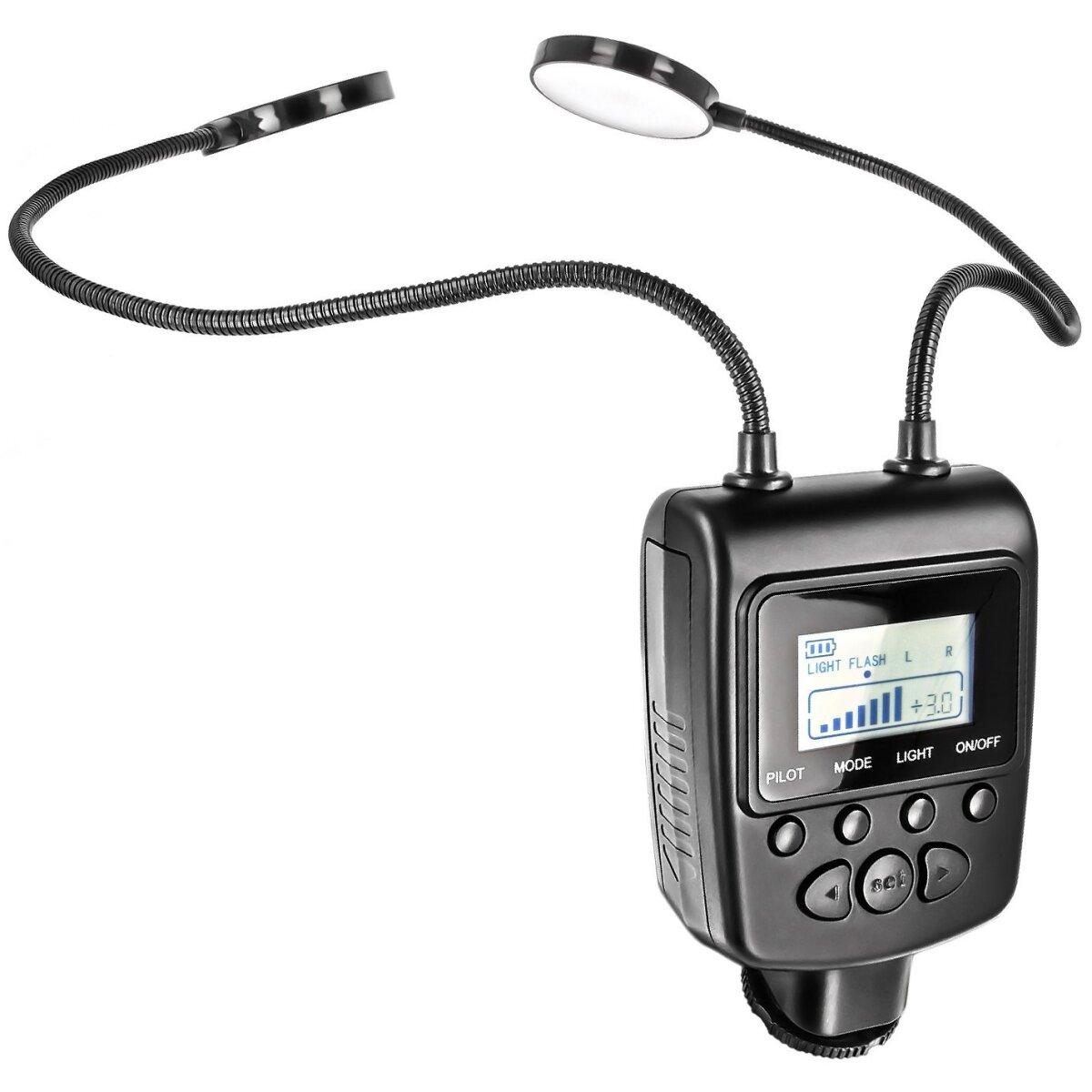 Flexible 30cm Flexarm 24 LED 2-fach Makro Leuchte Dauerlicht Blitz Flash kompatibel mit Sony DLSR & Bridge Kameras - ideal für Makro- Tabletop & Produktfotografie