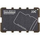 Extrem Kompaktes Speicherkartenetui Aufbewahrungsbox im Kreditkarten-Format fuer 10 x MicroSD - grau