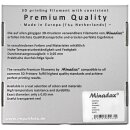 Minadax® 0,75kg Premium Qualitaet 3mm (2,85mm) PET-Filament schwarz fuer 3D-Drucker hergestellt in Europa