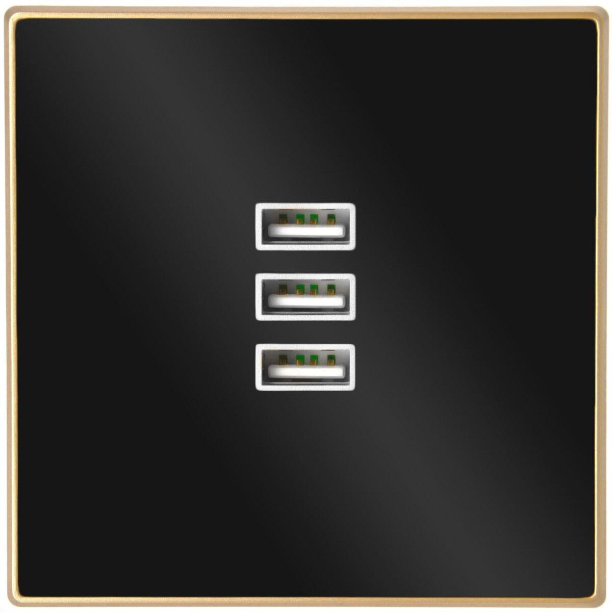 Minadax 3 x USB Gold ohne Switch