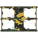 JJC extrem Kompaktes Speicherkartenetui Aufbewahrungsbox im Kreditkarten-Format fuer 4 x SD SDHC SDXC - Farbe Flecktarn