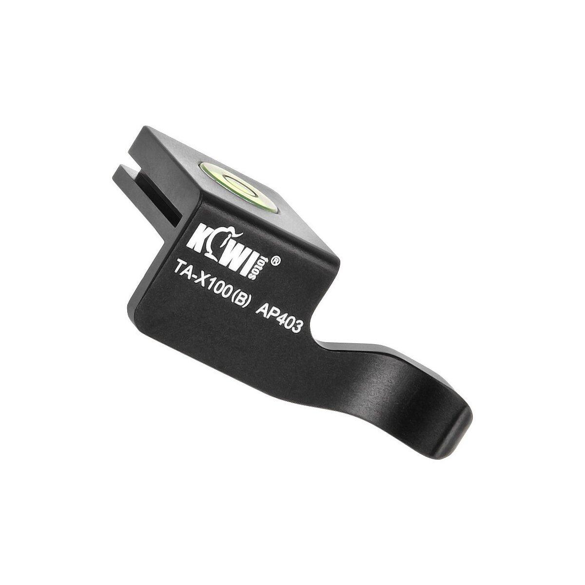 Kiwifoto Retro Daumenauflage in schwarz aus Aluminium kompatibel für Fujifilm Finepix X100 X100S - für einen sicheren Halt und trendigen Retro-Look