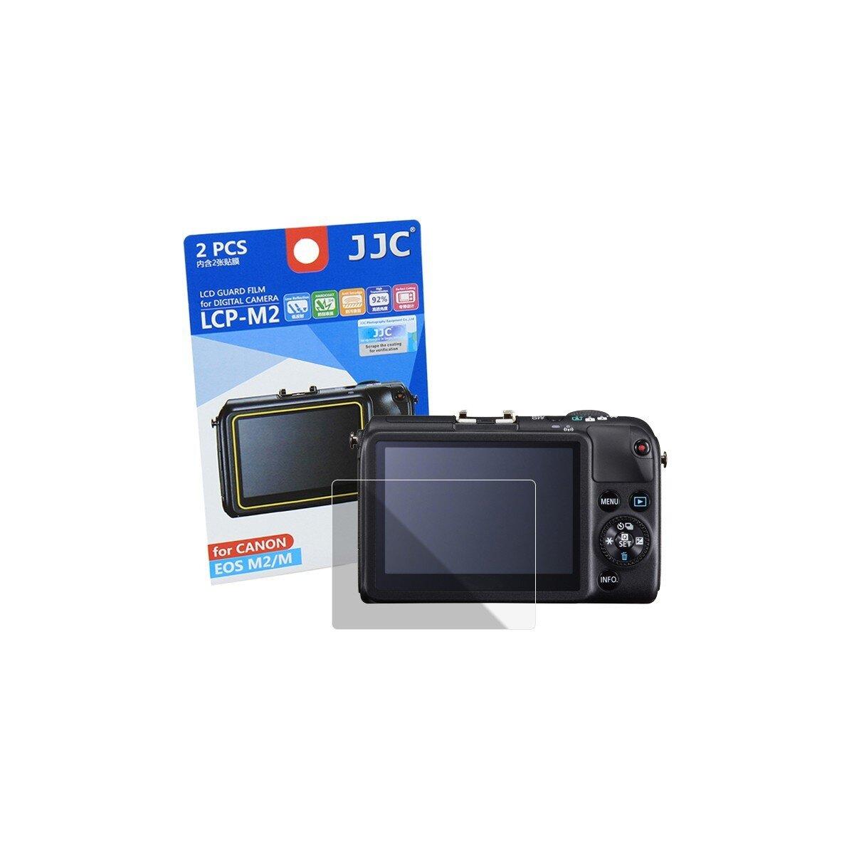 JJC LCP-M2 Displayschutzfolie Screen Protector Kratzschutz passgenau kompatibel mit Canon EOS M, M2