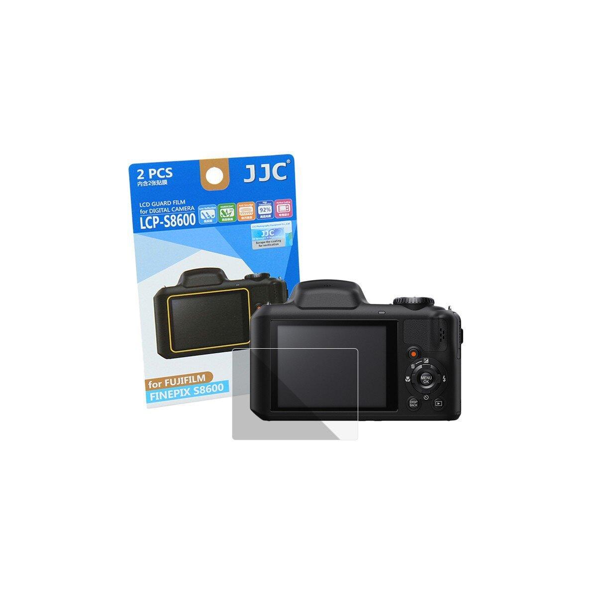 JJC LCP-S8600 Displayschutzfolie Screen Protector Kratzschutz passgenau kompatibel für Fujifilm Finepix S8600