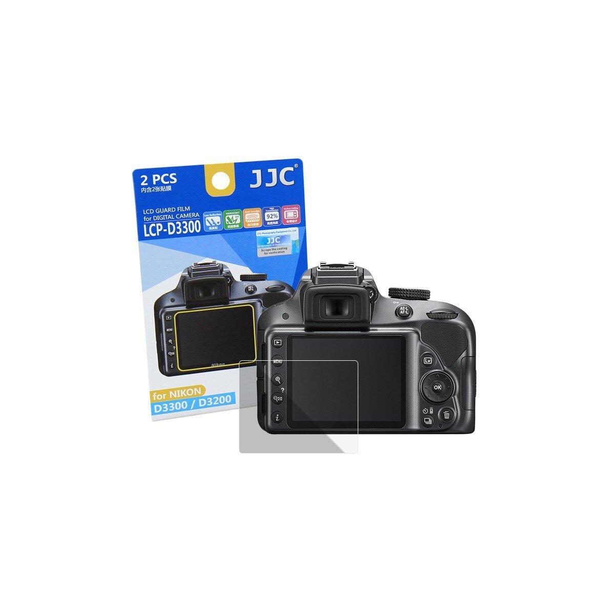 JJC LCP-D3300 Displayschutzfolie Screen Protector Kratzschutz passgenau kompatibel mit Nikon D3200, D3300