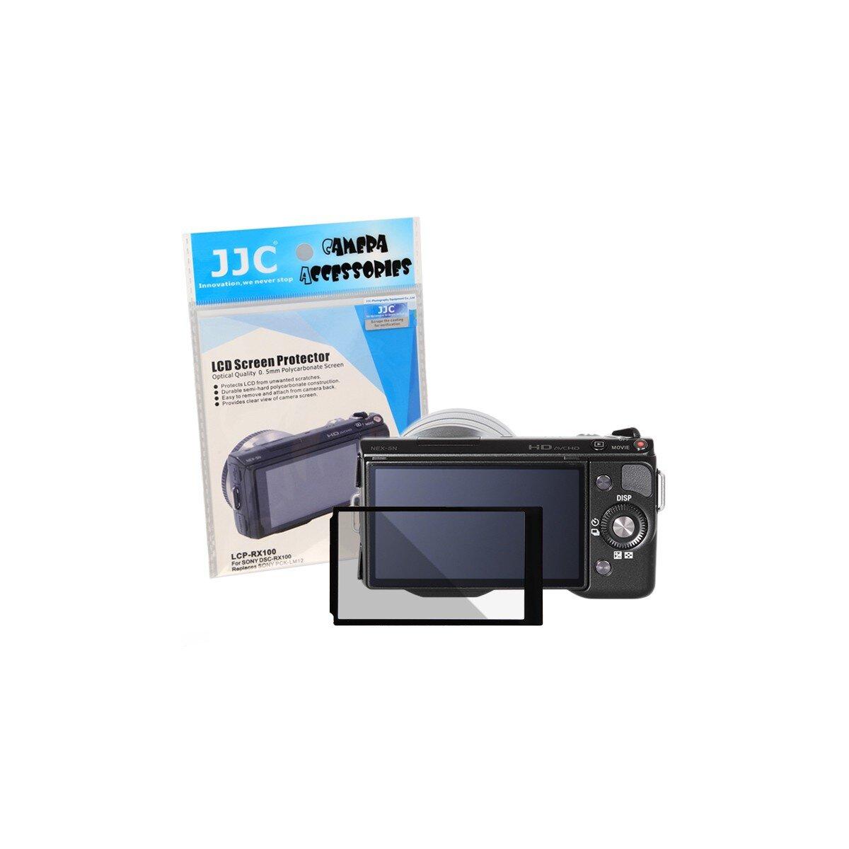 JJC Displayschutzfolie Screen Protector Kratzschutz passgenau kompatibel mit Sony DCR-RX100, DCR-RX100 II und DCR-RX100 III - ersetzt SONY PCK-LM12
