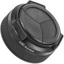 JJC Automatik Objektivdeckel, Frontdeckel kompatibel mit Canon PowerShot G1 X - ALC-G1X schwarz