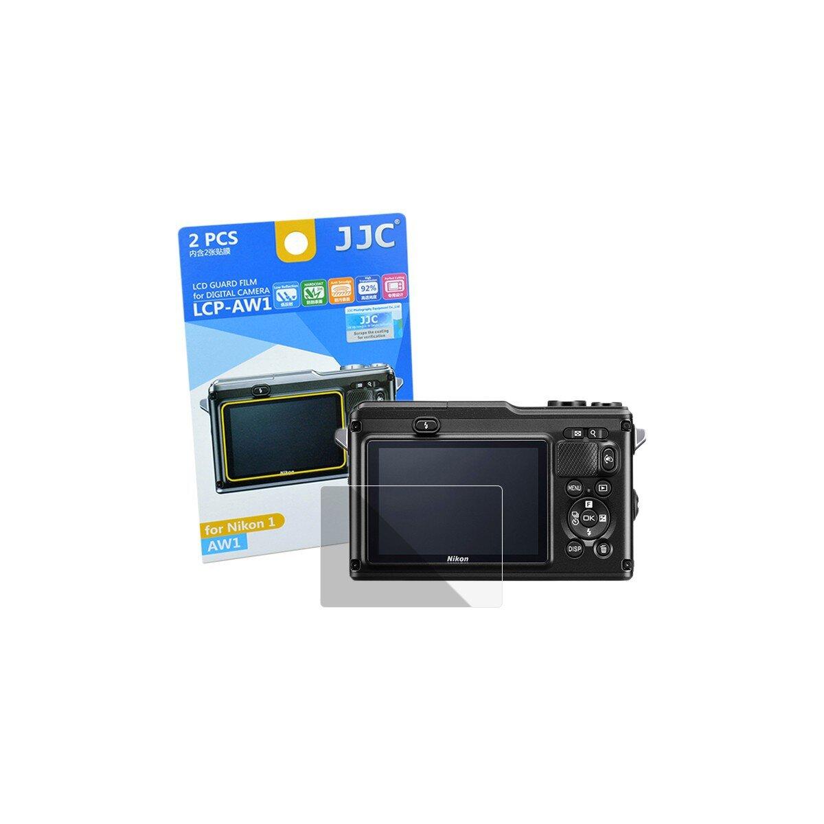 JJC Displayschutzfolie Screen Protector Kratzschutz passgenau kompatibel für Nikon AW1 - LCP-AW1