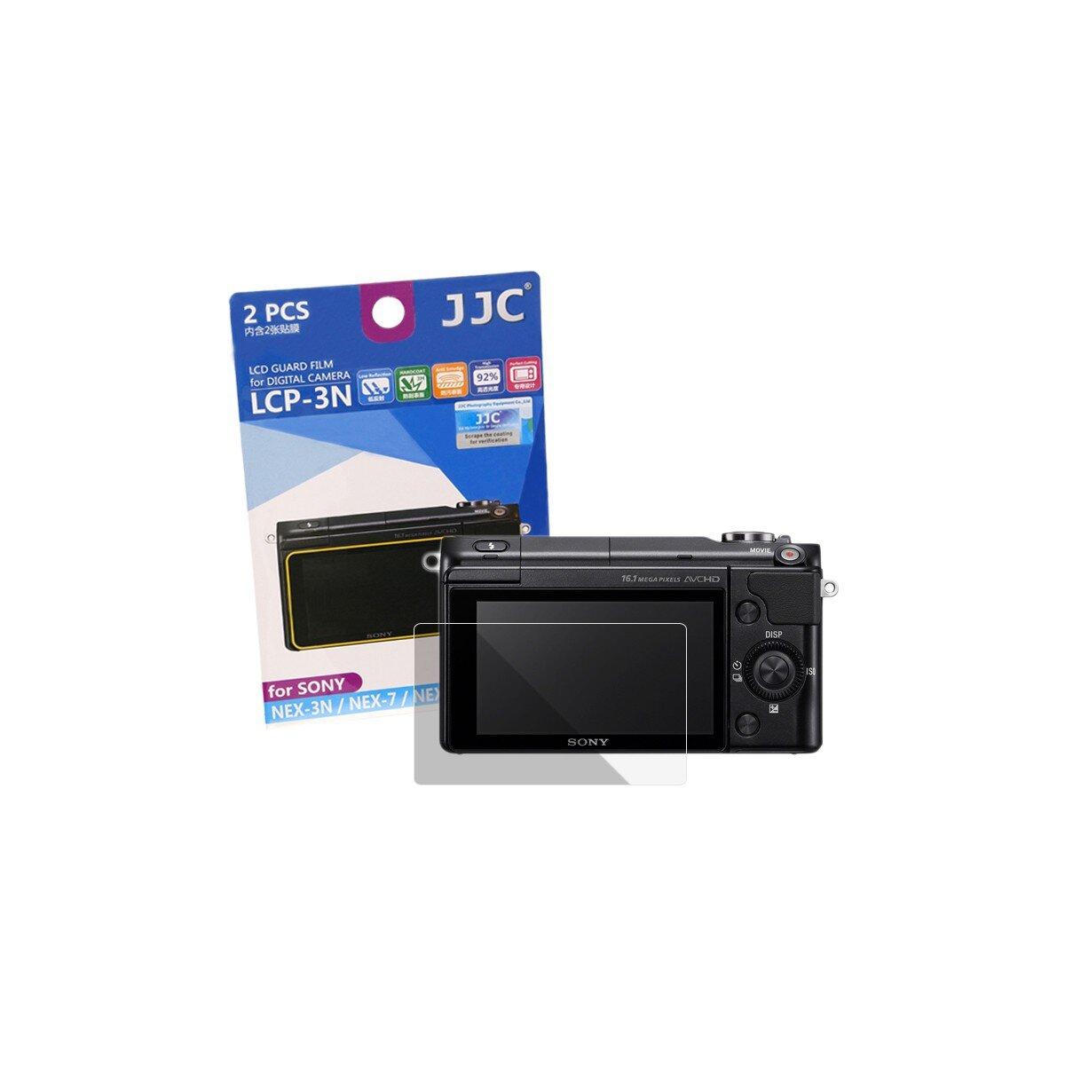 JJC Displayschutzfolie Screen Protector Kratzschutz passgenau kompatibel mit Sony NEX-3N, NEX-7, NEX-6, A6300 - LCP-3N