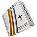 Minadax 0,75kg Premium Qualitaet 3mm (2,85mm) ABS-X-Filament hellgrau fuer 3D-Drucker hergestellt in Europa