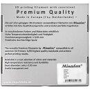Minadax 0,75kg Premium Qualitaet 1,75mm ABS-X-Filament natur fuer 3D-Drucker hergestellt in Europa