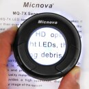 Micnova MQ-7X Sensorlupe mit 7-facher Vergroeßerung und 6 hellen LEDs fuer eine perfekte Sensorreinigung - inkl. Reinigungstuch