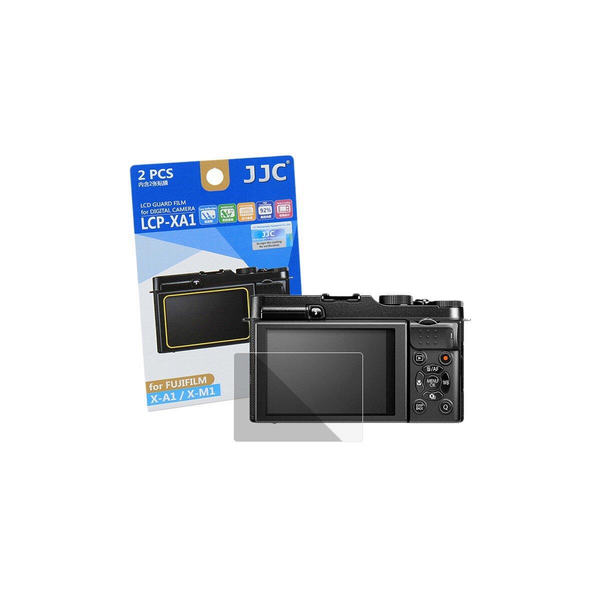JJC Displayschutzfolie Screen Protector Kratzschutz passgenau fuer Fujifilm X-A1, X-M1 - LCP-XA1
