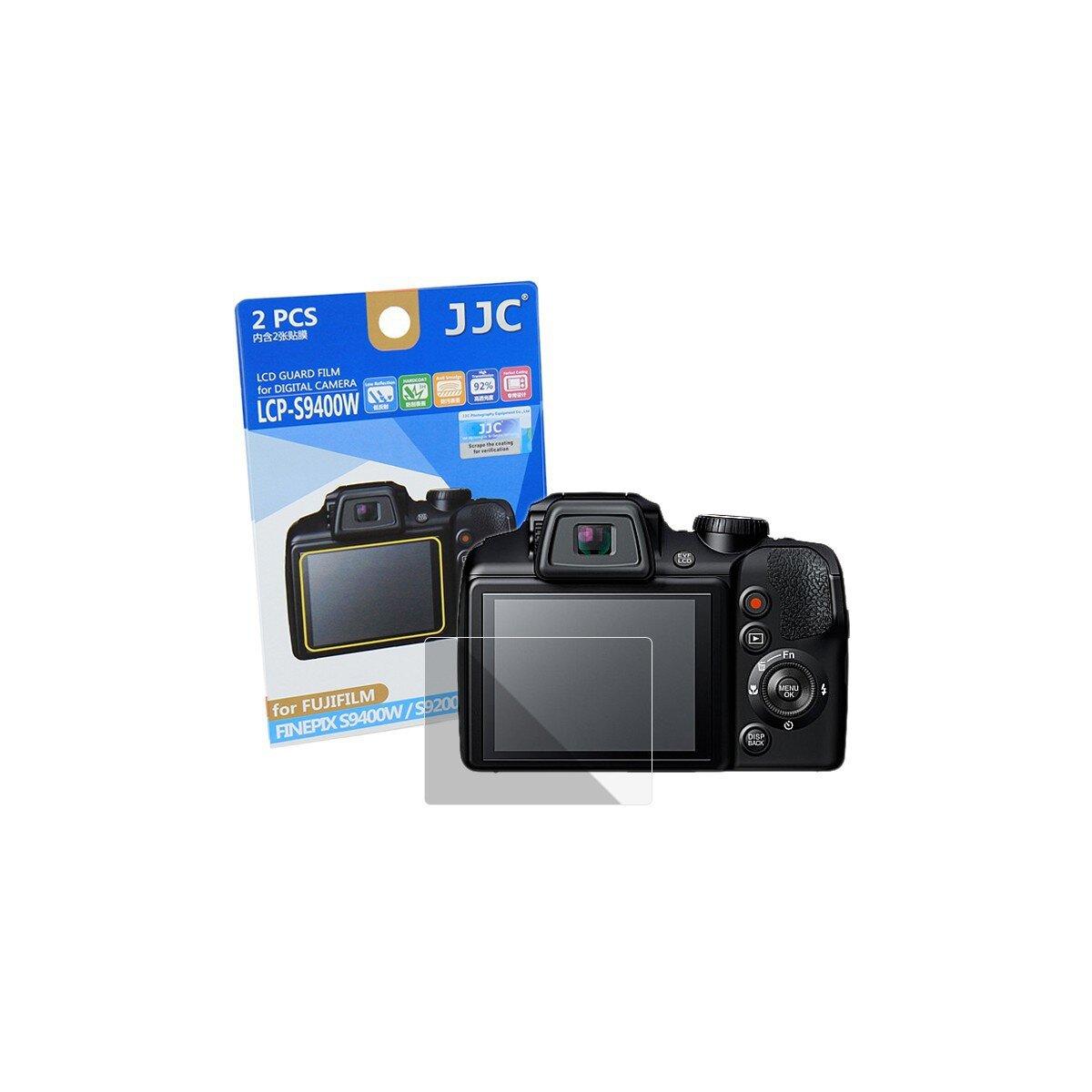 JJC Displayschutzfolie Screen Protector Kratzschutz passgenau kompatibel für Fujifilm Finepix S9400W - LCP-S9400W