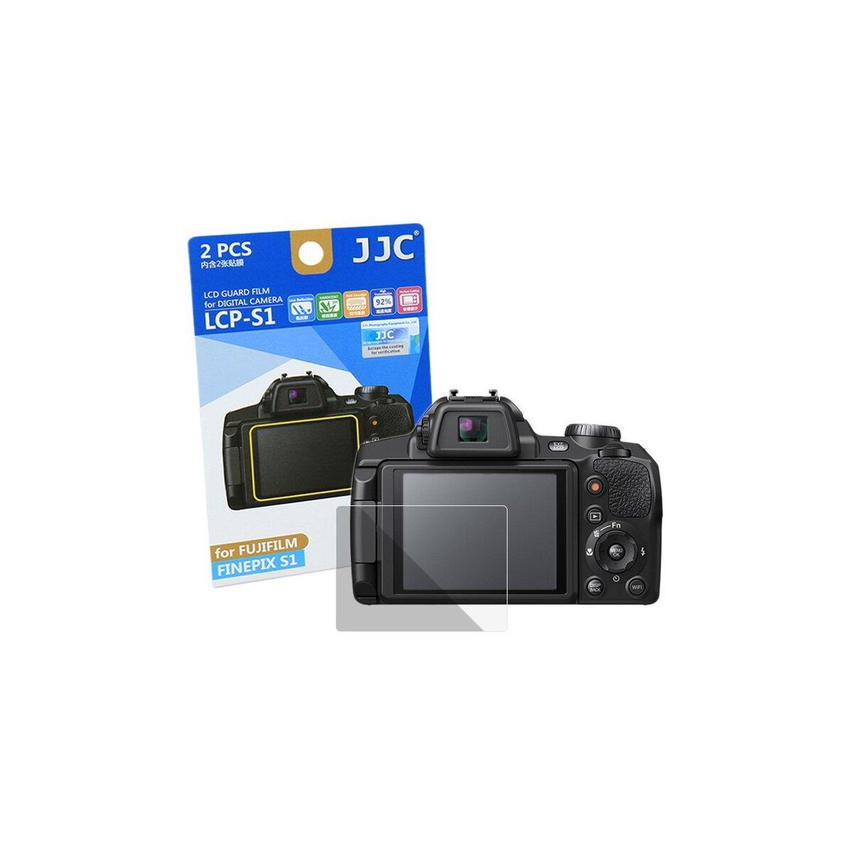 JJC Displayschutzfolie Screen Protector Kratzschutz passgenau kompatibel für Fujifilm Finepix S1 - LCP-S1