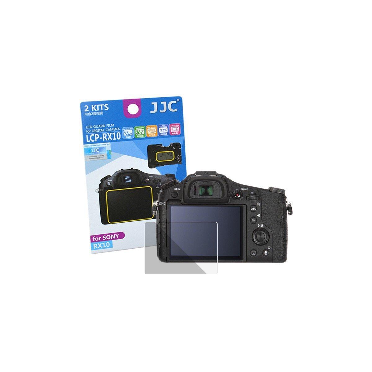 JJC Displayschutzfolie Screen Protector Kratzschutz passgenau kompatibel mit Sony RX10 - LCP-RX10