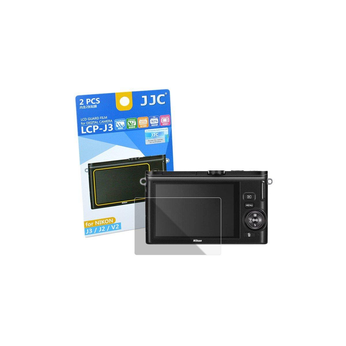 JJC Displayschutzfolie Screen Protector Kratzschutz passgenau kompatibel mit Nikon J3, J2, V2 -LCP-J3