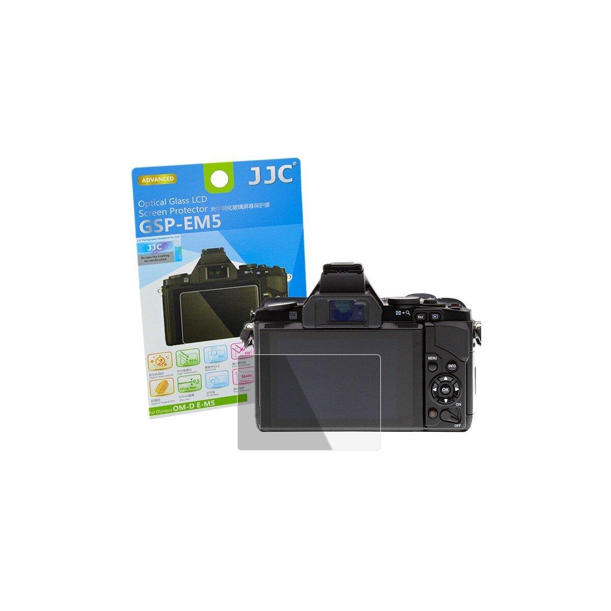 Hochwertiger Displayschutz Screen Protector aus gehaertetem Echtglas, passend fuer Olympus OM-D E-M5 - JJC GSP-EM5