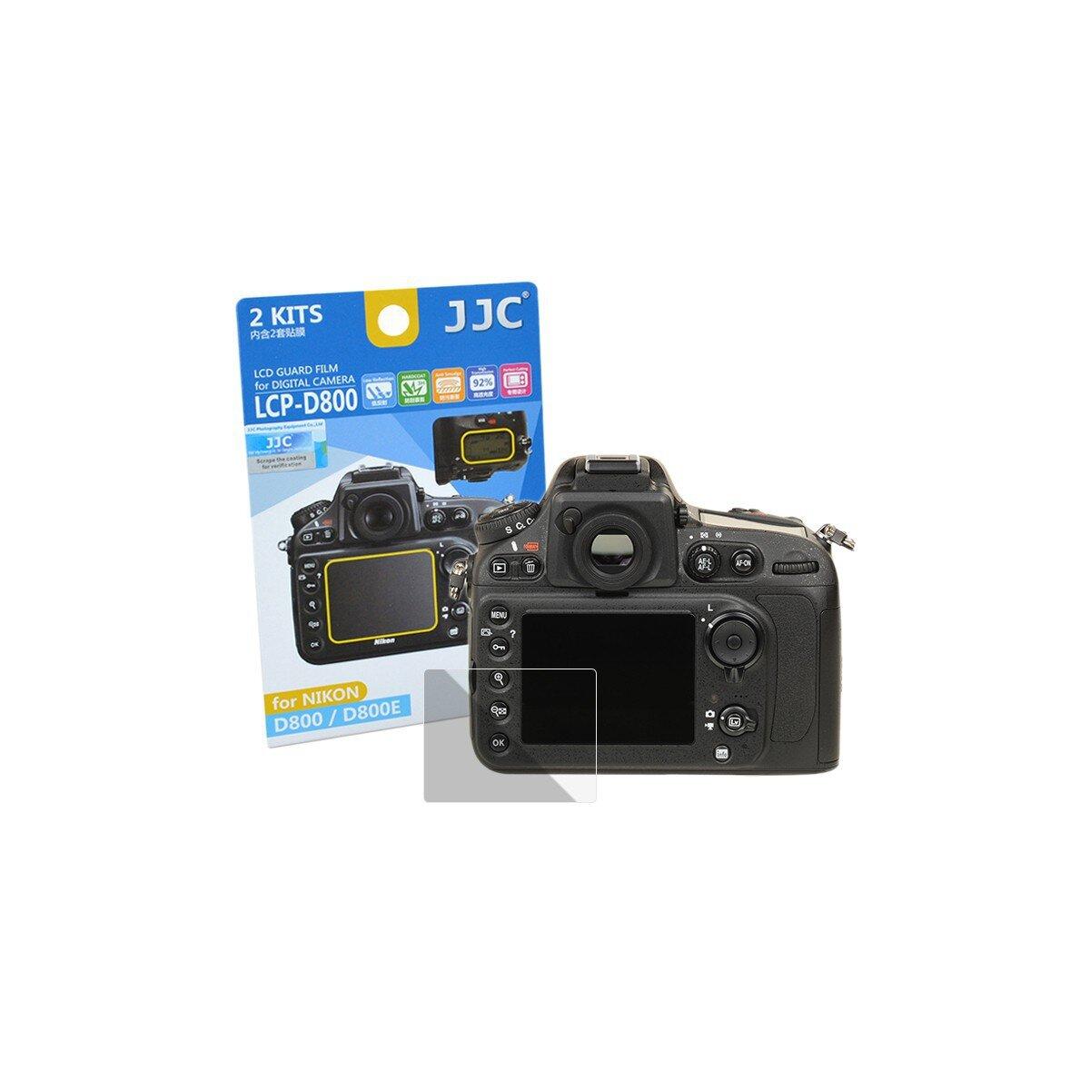 JJC Displayschutzfolie Screen Protector Kratzschutz passgenau kompatibel mit Nikon D800, D800E - LCP-D800