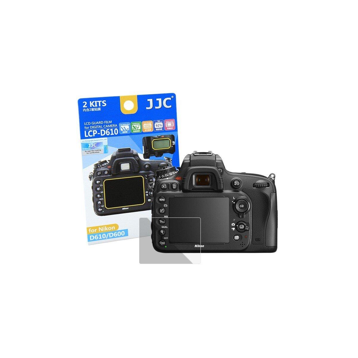 JJC Displayschutzfolie Screen Protector Kratzschutz passgenau kompatibel mit Nikon D600, D610 - LCP-D610