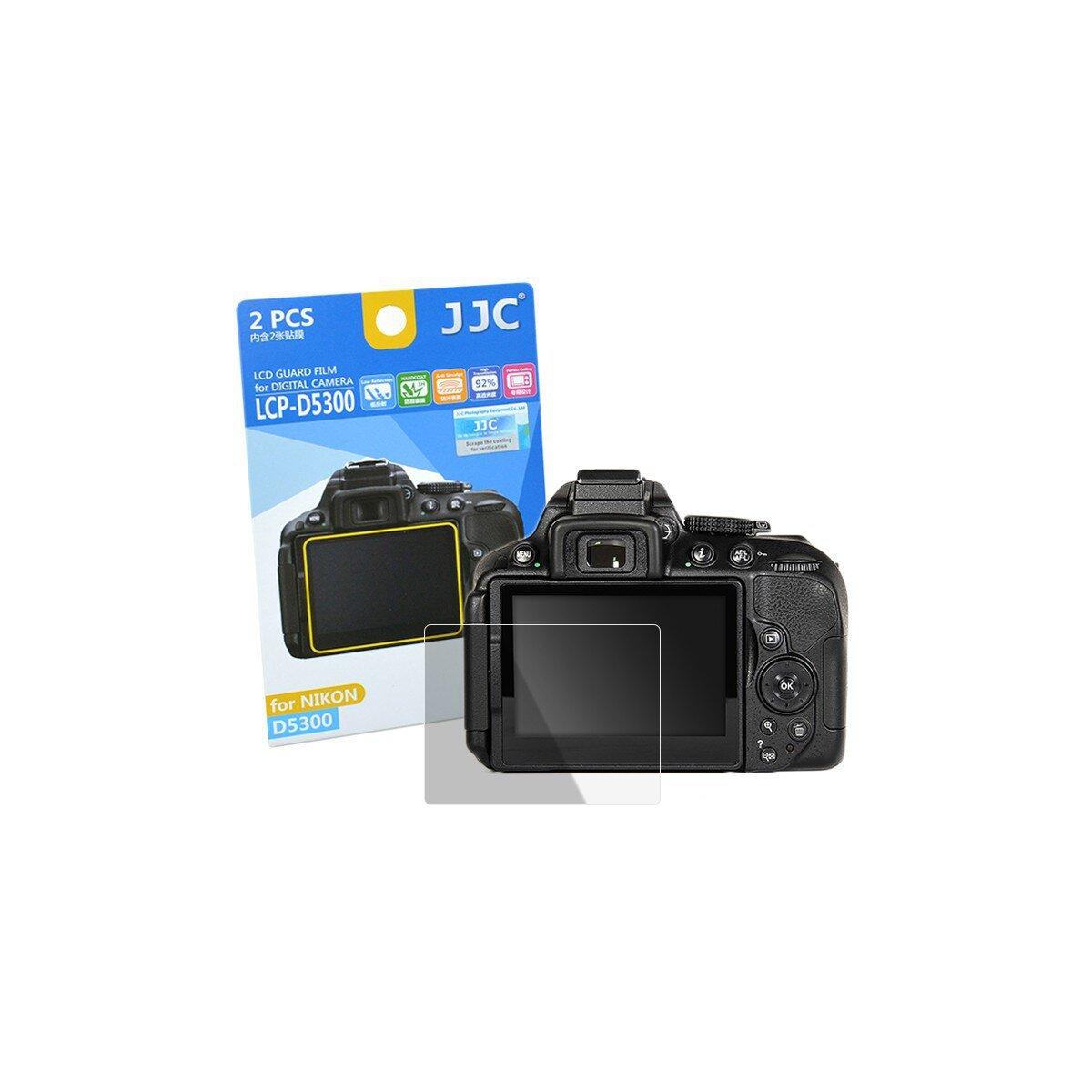 JJC Displayschutzfolie Screen Protector Kratzschutz passgenau fuer Nikon D5300 - LCP-D5300