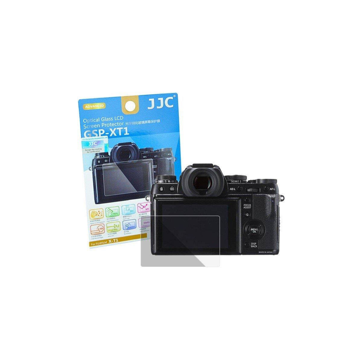 Hochwertiger Displayschutz Screen Protector aus gehaertetem Echtglas, passend fuer Fujifilm X-T1, X-T2 - JJC GSP-XT1