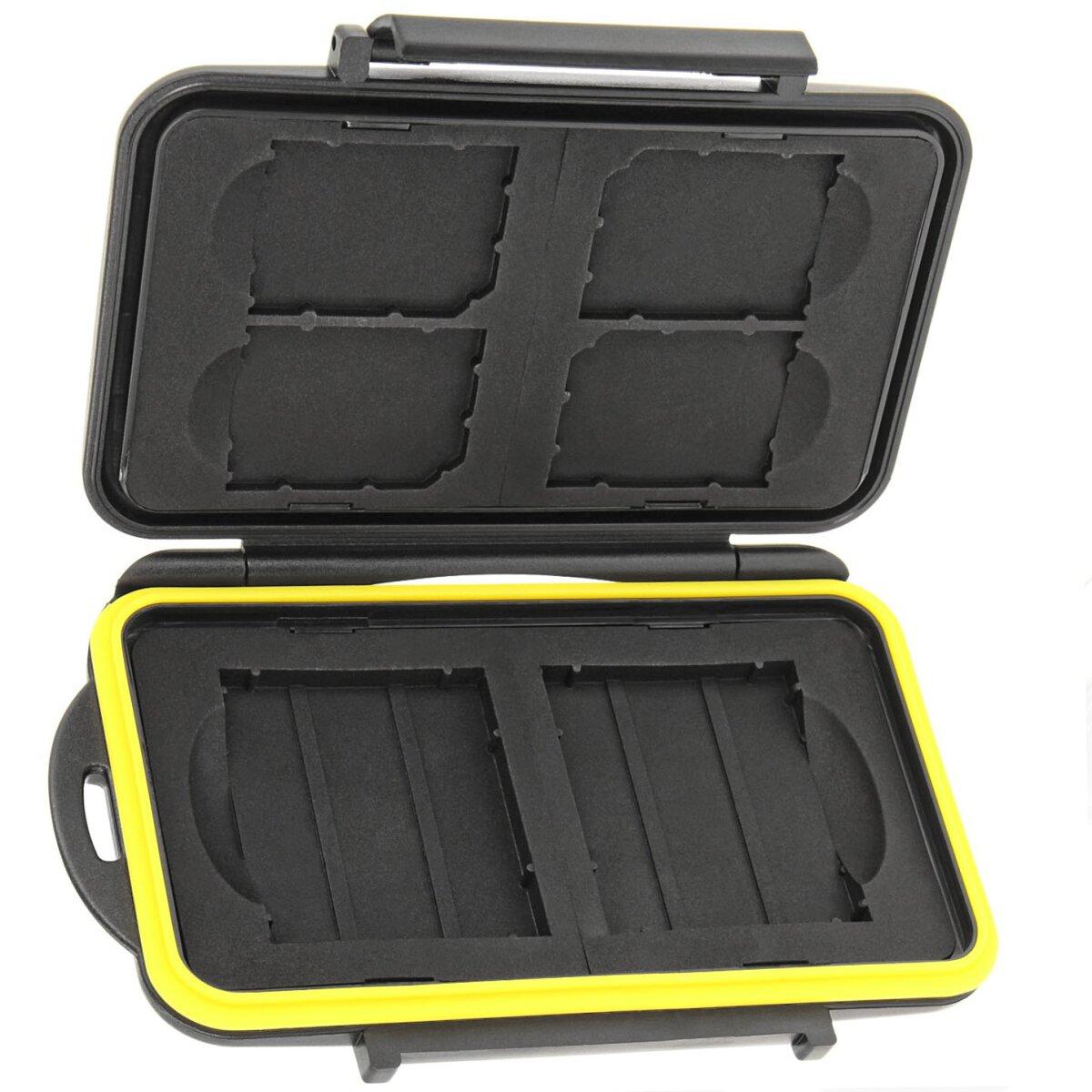 Speicherkarten- Aufbewahrungs Etui Box Schutzbox Hartcase Safe für 4 x SD und 2 x CF-Karten