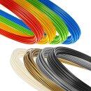Großes Minadax 8 Farben multicolor Starterpack Set 8x50 Gramm hochwertiges 3 mm (2,85 mm) ABS-Filament hergestellt in Europa
