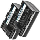 2x Minadax® Qualitätsakkus mit echten 1600 mAh für Canon EOS 6D Mark II 80D 7D Mark II, ersetzt LP-E6N - Intelligentes Akkusystem mit Chip