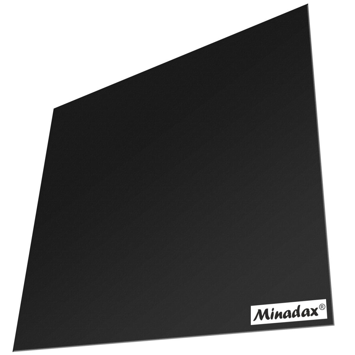 Minadax PEI 3D Druckoberfläche Schwarz 200x200mm 1mm