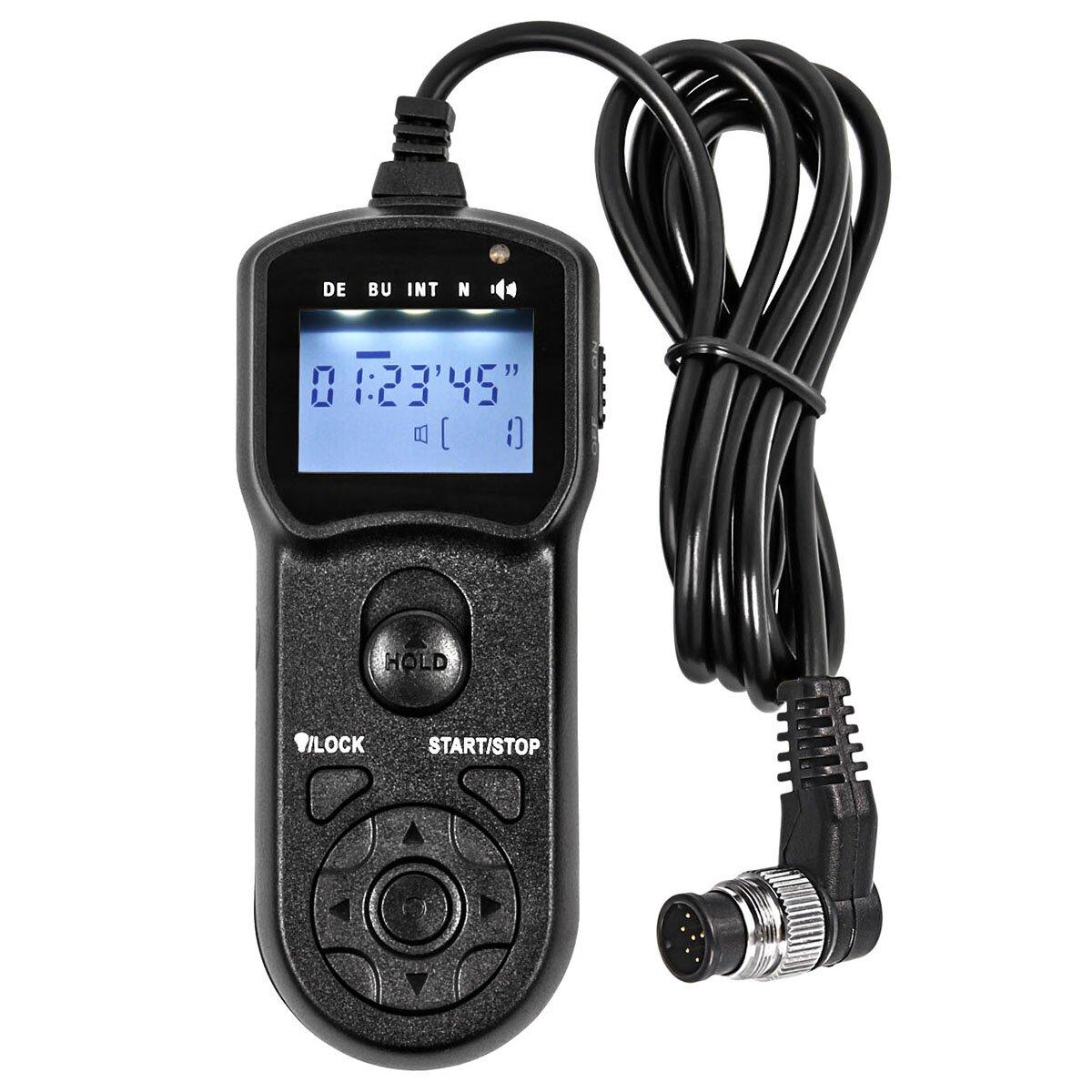 JJC 5 in 1 Multifunktions Kabelauslöser Fernauslöser mit Timer- und Intervalfunktion - kompatibel mit Nikon D3 D4 D5 D300s D700 D800 D500 - inkl. Minadax® Reinigungstuch
