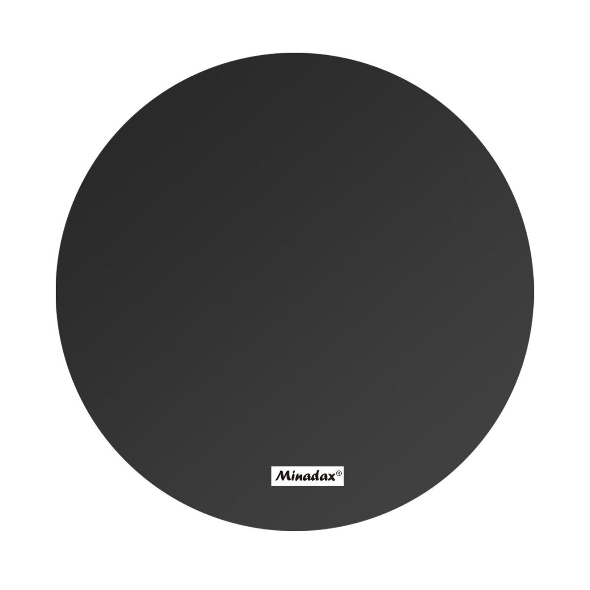 Minadax PEI 3D Druck Oberfläche Schwarz Rund 203mm 1mm