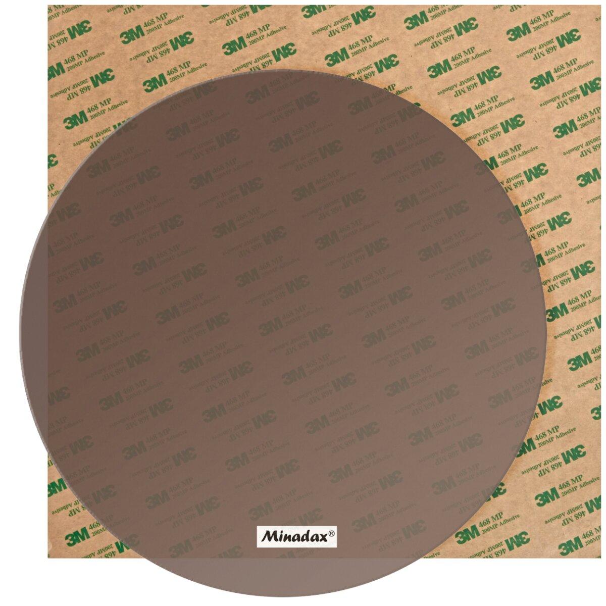 Minadax PEI 3D Druck Oberfläche Natur Rund Ø 203mm inkl. 3M 468MP Transferfolie