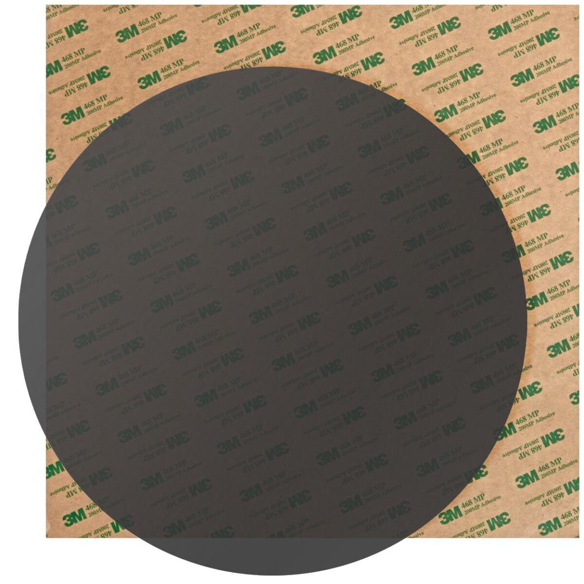 Minadax PEI 3D Druck Oberfläche Schwarz Rund 203mm inkl. 3M 468MP Transferfolie