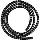Minadax professioneller HighTech 2 Meter Kabelschlauch Kabelkanal in schwarz mit 28 mm Durchmesser für flexibles Kabelmanagment an Computer und Arbeitsplatz