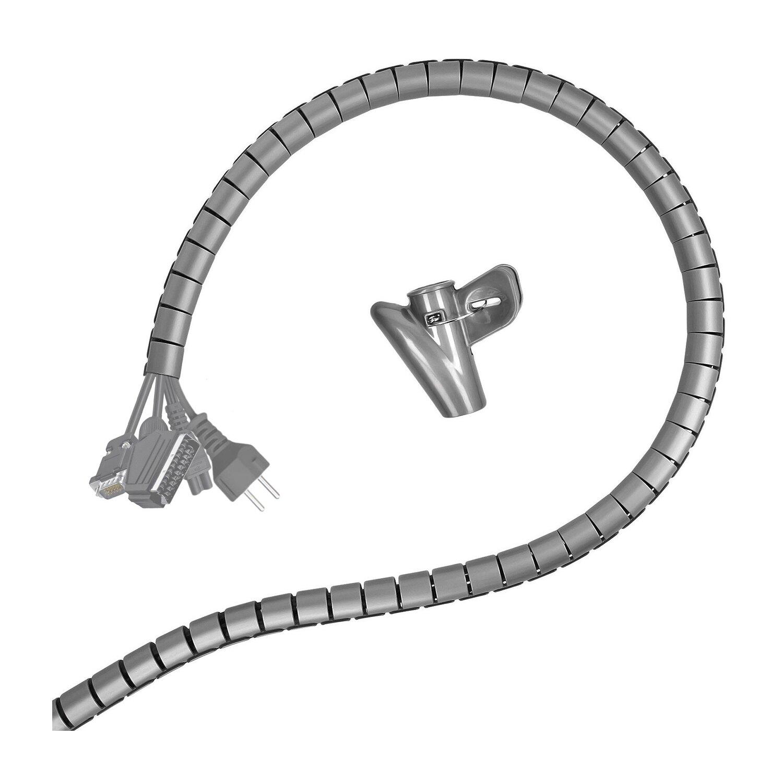 Minadax professioneller HighTech 2 Meter Kabelschlauch Kabelkanal in