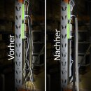Minadax® 2 Meter, 50mm Ø Selbstschließender Profi Kabelschlauch Kabelkanal in schwarz für flexibles Kabelmanagement
