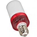 Minadax® LED Lampe mit Bluetooth Lautsprecher ca. 15m Reichweite in Rot  E27  4,5 Watt A++  LED Warmweiß Leuchtmittel, 400-460 Lumen