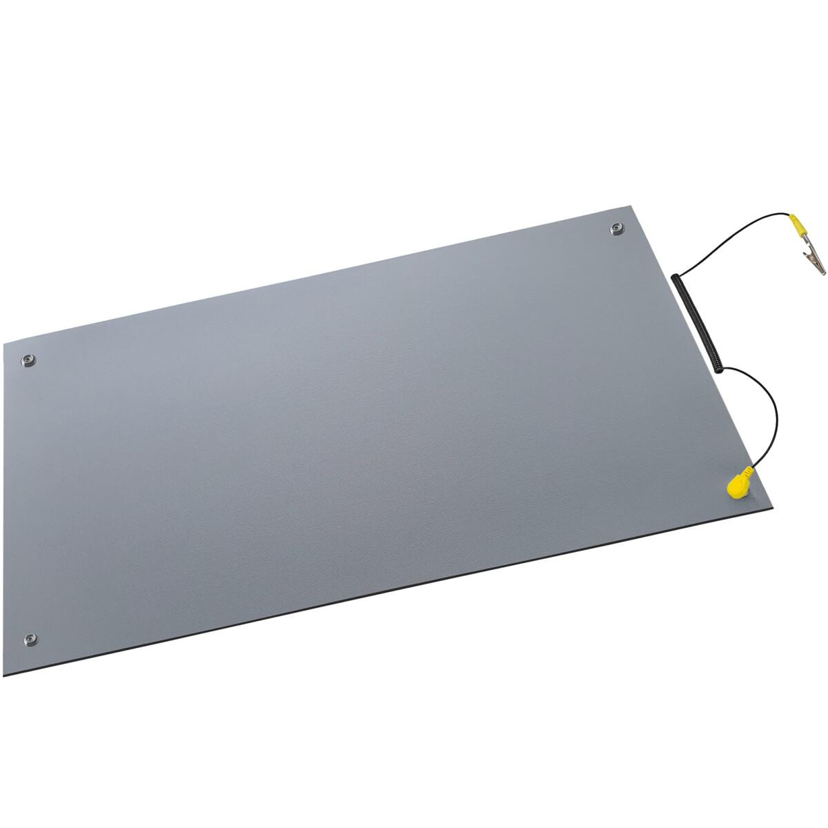Minadax® Antistatik-Matte 50 cm x 60 cm – Professionelle Antistatische Arbeitsmatte - PVC-Matte mit Erdungskabel - Qualität - ESD-Schutz