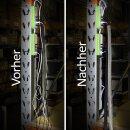 Minadax® gewobener Selbstschließender 2 Meter Profi Kabelschlauch Kabelkanal 16mm Innendurchmesser in grau für flexibles Kabelmanagement