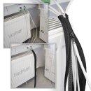 Minadax® Kabelschlauch Kabelmantel mit Reißverschluss 1m, 20mm Ø flexibles Kabelmanagement schwarz