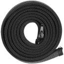Minadax® Kabelschlauch Kabelmantel mit Reißverschluss 1,8m, 45mm Ø flexibles Kabelmanagement schwarz