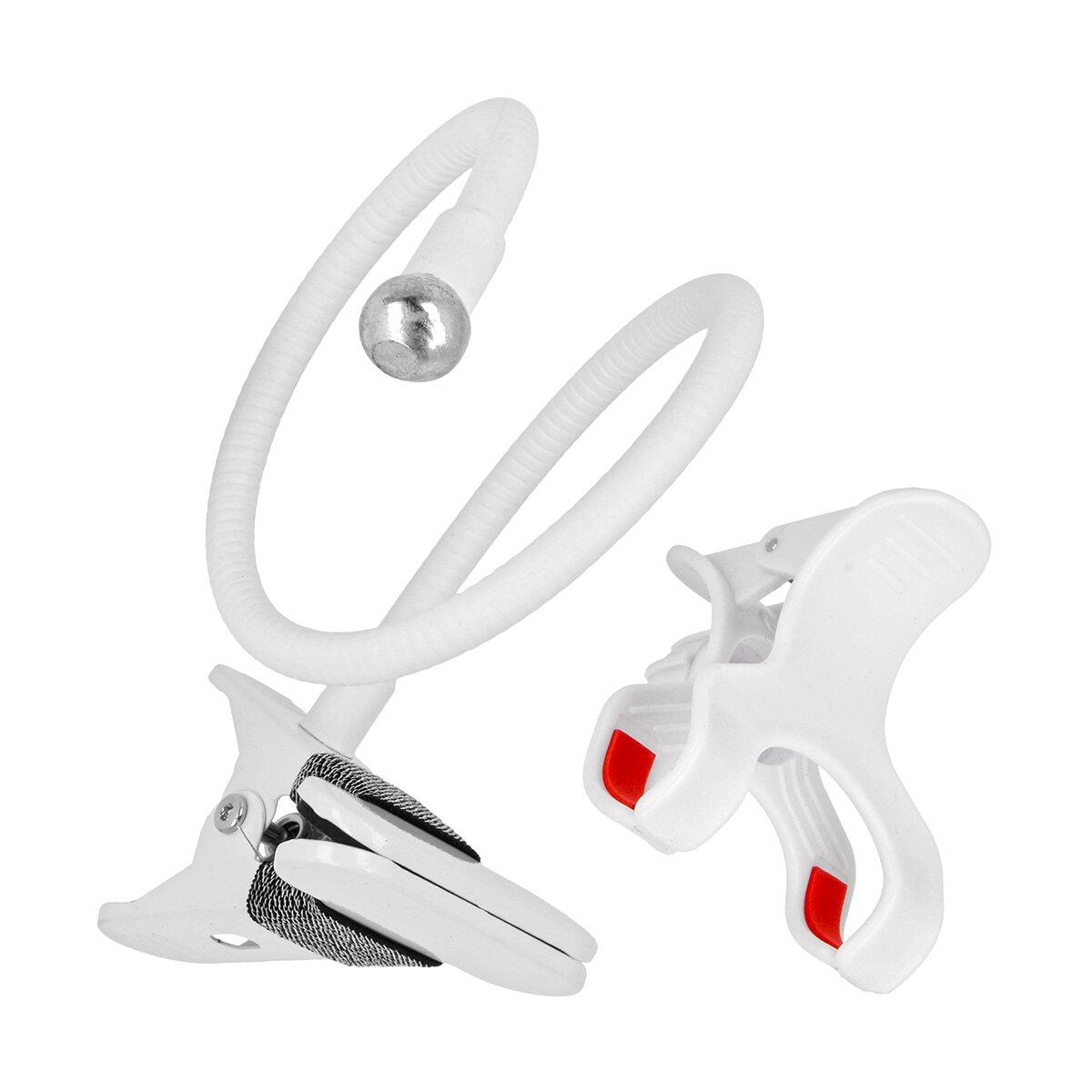 Minadax® Universal Schwanenhals Smartphone Halterung starke Klemmen flexibel einstellbar mit 360° Kugelkopf